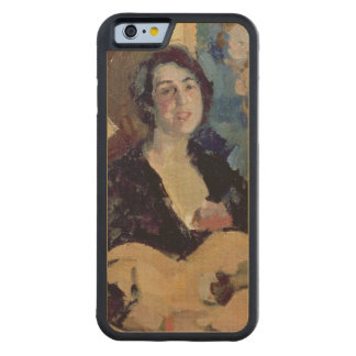 Señora con una guitarra, 1911 funda de iPhone 6 bumper arce