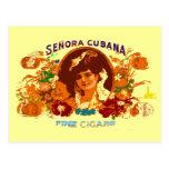 SENORA CUBANA POSTALES