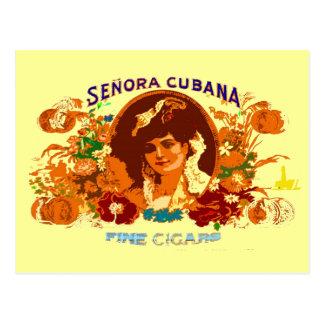 SENORA CUBANA POSTCARD