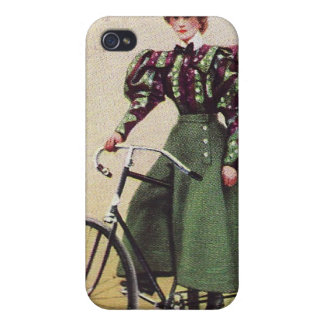 Señora Cyclist Speck Case del vintage iPhone 4 Carcasas