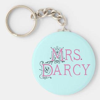 Señora Darcy Gift de Jane Austen Llaveros Personalizados