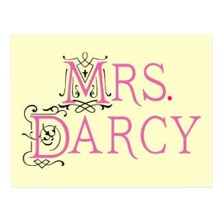 Señora Darcy Gift de Jane Austen Postales