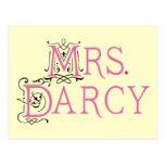 Señora Darcy Gift de Jane Austen Tarjeta Postal