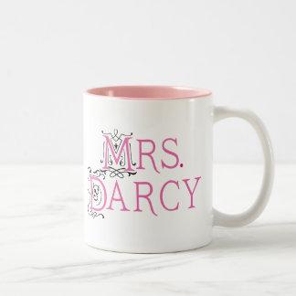 Señora Darcy Gift de Jane Austen Taza Dos Tonos