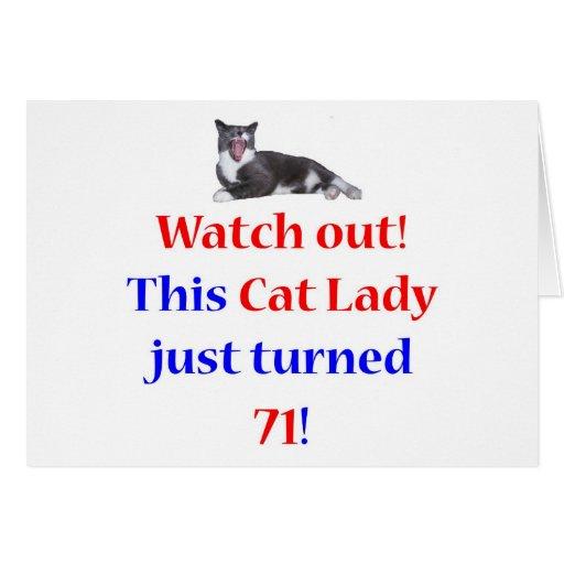 Señora de 71 gatos felicitacion
