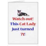 Señora de 71 gatos tarjetas