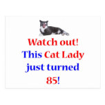 Señora de 85 gatos tarjeta postal
