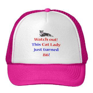 Señora de 86 gatos gorra