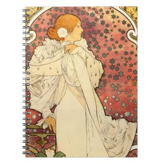 Señora de Alfonso Mucha del cuaderno de Camelias