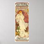 Señora de Alfonso Mucha del poster de Camelias