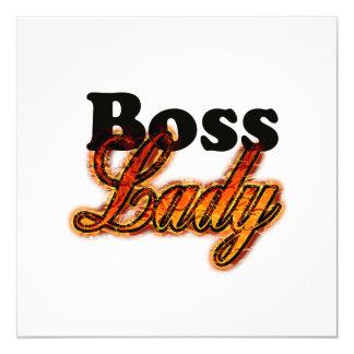 """Señora de Boss Invitación 5.25"""" X 5.25"""""""
