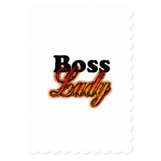 """Señora de Boss Invitación 5"""" X 7"""""""