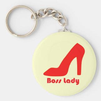 Señora de Boss Llavero Redondo Tipo Pin