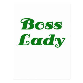 Señora de Boss Tarjeta Postal