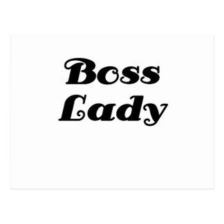 Señora de Boss Tarjetas Postales