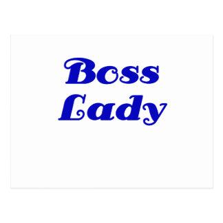 Señora de Boss Postales
