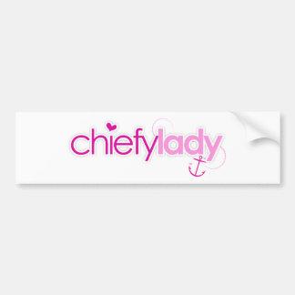 Señora de Chiefy Etiqueta De Parachoque