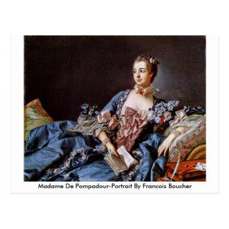 Señora De Copete-Retrato By Francois Boucher Tarjeta Postal
