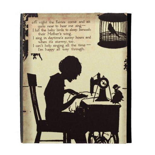 Señora de costura cantante Vintage Fairy Poem