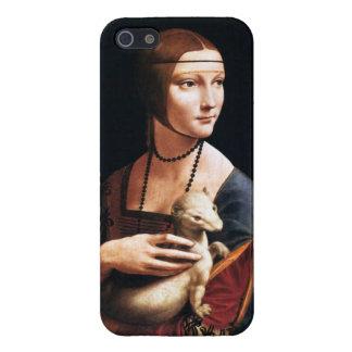 Señora de da Vinci con un caso del iPhone 5 del ar iPhone 5 Cárcasas