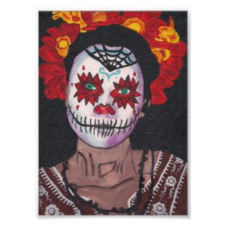 Señora de Dia De Los Muertos Red Fotografías