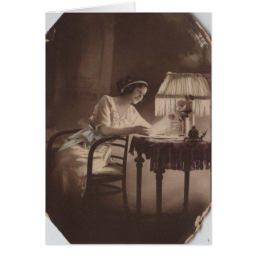 Señora de Edwardian Tarjeta Pequeña