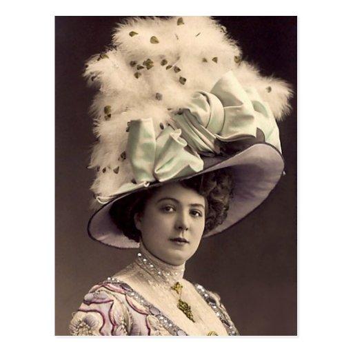 Señora de Edwardian Tarjetas Postales