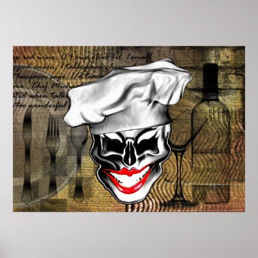 Señora de encargo Chef Skull Poster: Vive de largo