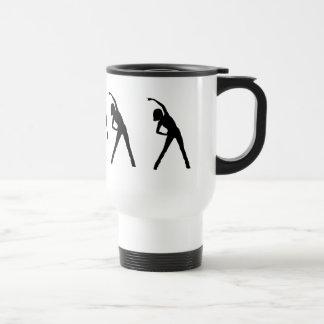 Señora de encargo Stretching Excersize Mug Taza De Viaje