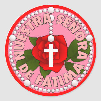 Señora de Fatima Round Stickers