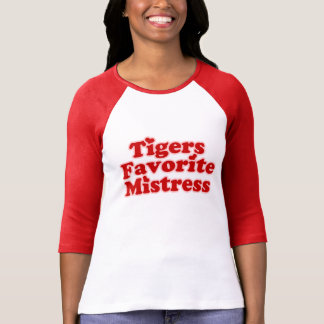 Señora de Favotire de los tigres para mujer T Shirts