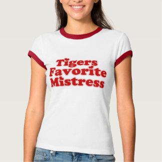 Señora de Favotire de los tigres para mujer Remera