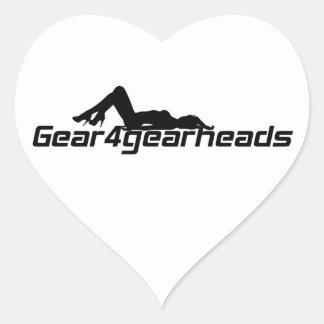 Señora de Gear4gearheads Pegatina En Forma De Corazón