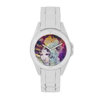 Señora de Geode del reloj del espacio exterior
