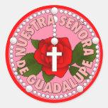 Señora de Guadalupe Pegatina Redonda