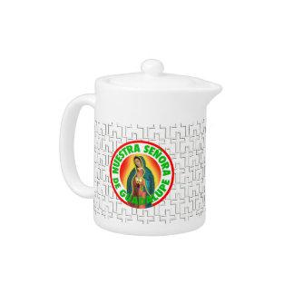 Señora De Guadalupe Teapot