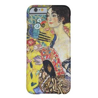 Señora de Gustavo Klimt con la fan Funda De iPhone 6 Barely There
