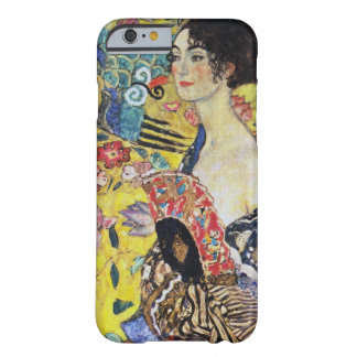 Señora de Gustavo Klimt con la fan Funda Barely There iPhone 6