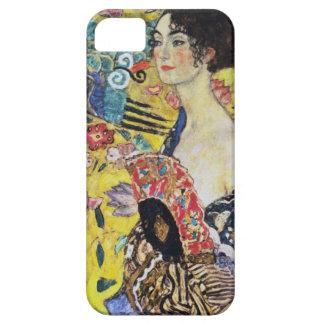 Señora de Gustavo Klimt con la fan Funda Para iPhone SE/5/5s