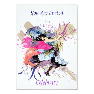 Señora de hadas Vintage Art Celebrate del baile Invitación 12,7 X 17,8 Cm