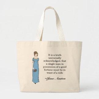 Señora de Jane Austen Bolsa Tela Grande