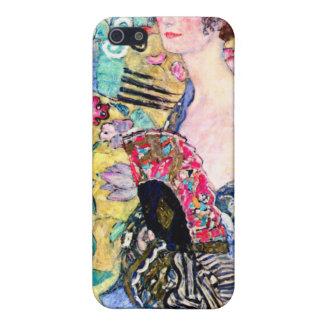 Señora de Klimt con una fan iPhone 5 Cárcasa