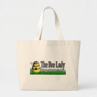 Señora de la abeja bolsa tela grande
