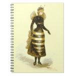 Señora de la abeja del vintage cuadernos