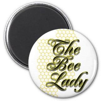 señora de la abeja imanes de nevera