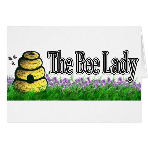 Señora de la abeja tarjeta de felicitación