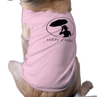 Señora de la camisa acanalada del perrito de las playera sin mangas para perro
