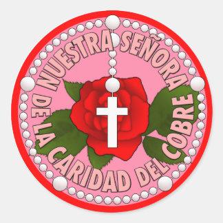 Señora de la Caridad del Cobre Classic Round Sticker