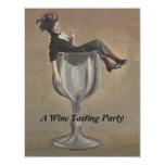 Señora de la diversión del vintage en invitaciones invitación 10,8 x 13,9 cm