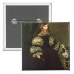 Señora de la familia de Medinaceli, c.1683 Pin Cuadrado